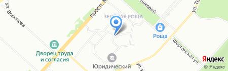 Овен на карте Красноярска