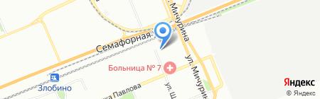 Красноярская межрайонная клиническая больница №7 на карте Красноярска