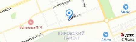 Ситников на карте Красноярска