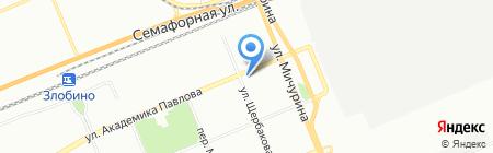 Корвет на карте Красноярска