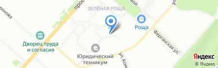 Бирюса на карте Красноярска