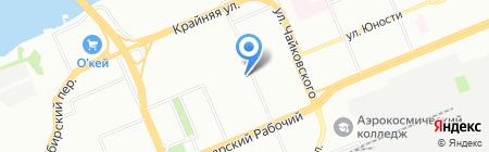 Роза на карте Красноярска