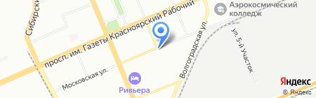 Лунный на карте Красноярска