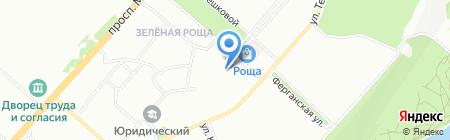 Магазин хозтоваров на ул. Устиновича на карте Красноярска