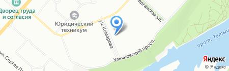 Дивия на карте Красноярска