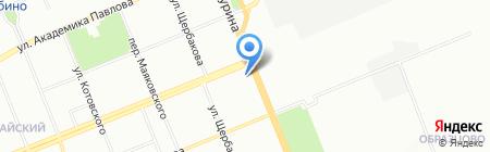 Эфа на карте Красноярска