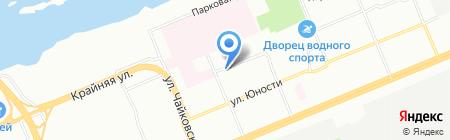 Стрелец на карте Красноярска