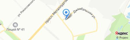 Ёж на карте Красноярска