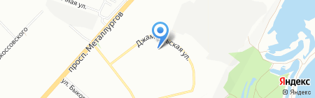 Средняя общеобразовательная школа №2 на карте Красноярска