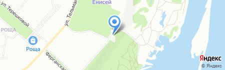 Ульяновский на карте Красноярска