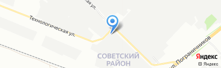 НордЛес на карте Красноярска