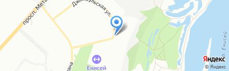 Кырдал на карте Красноярска