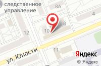 Схема проезда до компании 124Турист в Красноярске