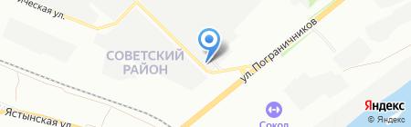 Перспектива на карте Красноярска
