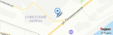 Сибтехстрой на карте Красноярска