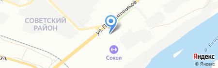 Водомер на карте Красноярска