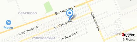 Ёлочка на карте Красноярска
