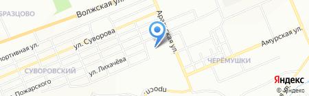 Средняя общеобразовательная школа №65 на карте Красноярска