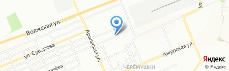 Черемушки на карте Красноярска