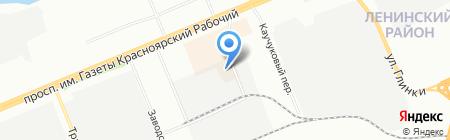 Восток на карте Красноярска
