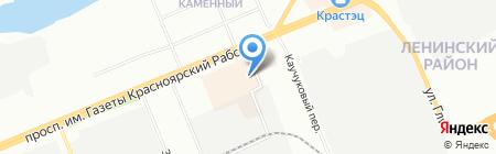 Народная ярмарка на карте Красноярска