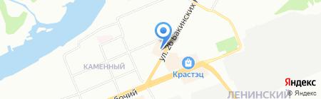 Саманта на карте Красноярска