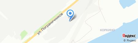 Крастехмонтаж на карте Красноярска