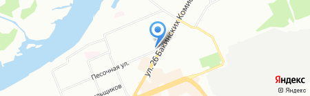 Ручеек на карте Красноярска