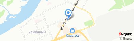 Детская школа искусств №6 на карте Красноярска
