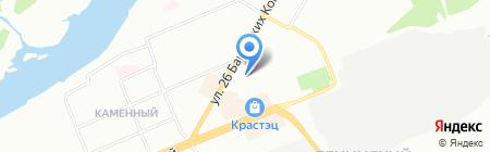 Омела на карте Красноярска