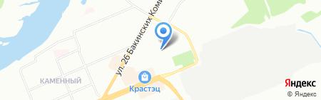 Энесай на карте Красноярска