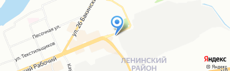 Орел на карте Красноярска