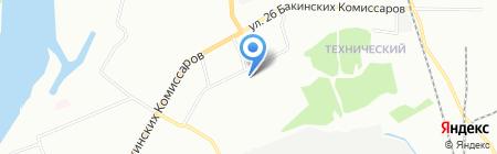 СТОмашин на карте Красноярска