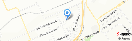 Средняя общеобразовательная школа №44 на карте Красноярска