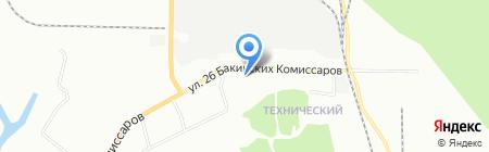Ирис на карте Красноярска
