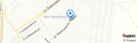 Бабушкин на карте Красноярска