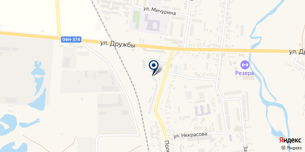Березовский на карте Березовке