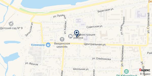 Управление пенсионного фонда в Березовском районе на карте Березовке