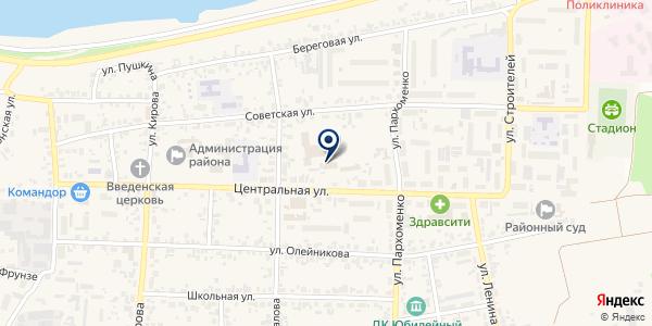Березовская мебельная фабрика на карте Березовке