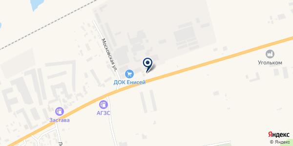 Енисей на карте Березовке