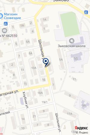 УЗЛОВАЯ БОЛЬНИЦА СТ.БОГОТОЛ на карте Красноярска