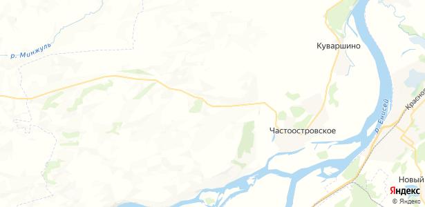 Серебряково на карте