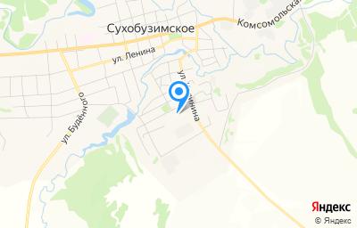 Местоположение на карте пункта техосмотра по адресу Красноярский край, с Сухобузимское, ул Центральная, д 8
