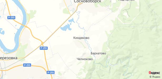 Киндяково на карте