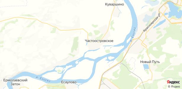 Частоостровское на карте
