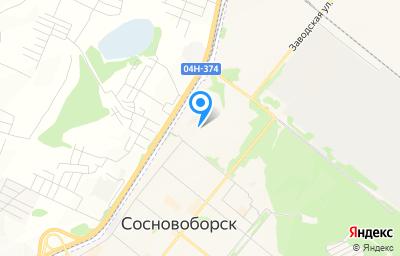 Местоположение на карте пункта техосмотра по адресу Красноярский край, г Сосновоборск, ул Труда, д 20Б