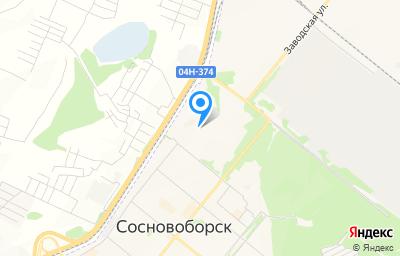 Местоположение на карте пункта техосмотра по адресу Красноярский край, г Сосновоборск, ул Труда, зд 20Б