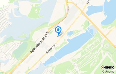 Местоположение на карте пункта техосмотра по адресу Красноярский край, г Железногорск, ул Южная, д 43Б