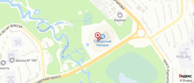 Карта расположения пункта доставки СИТИЛИНК в городе Железногорск