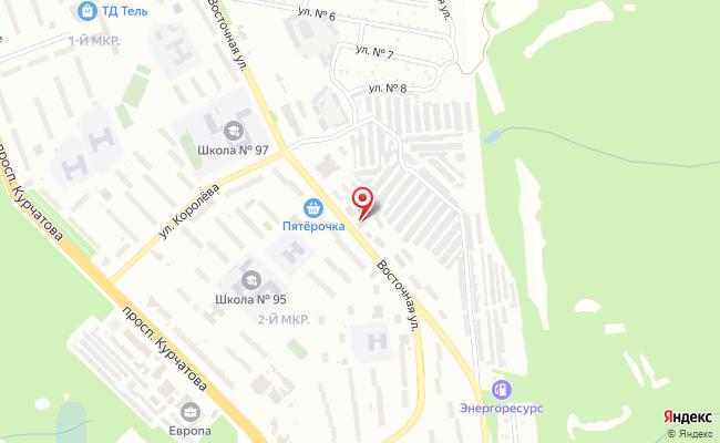 Карта расположения пункта доставки Пункт выдачи в городе Железногорск